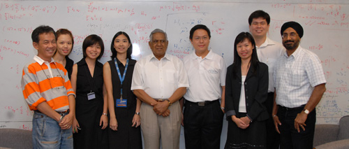Photo of CQT staff meeting Singapore President S. R. Nathan