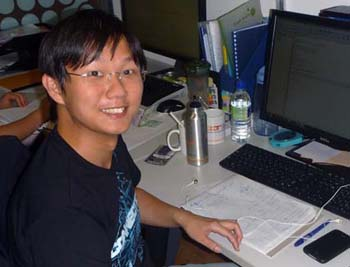 Colin Teo, a PhD student at the Centre for Quantum Technologies at the National University of Singapore.