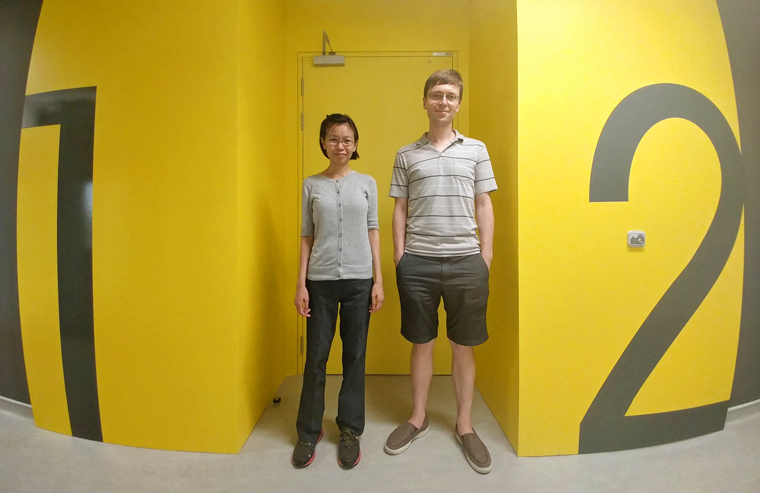 Loh Huanqian and Travis Nicholson