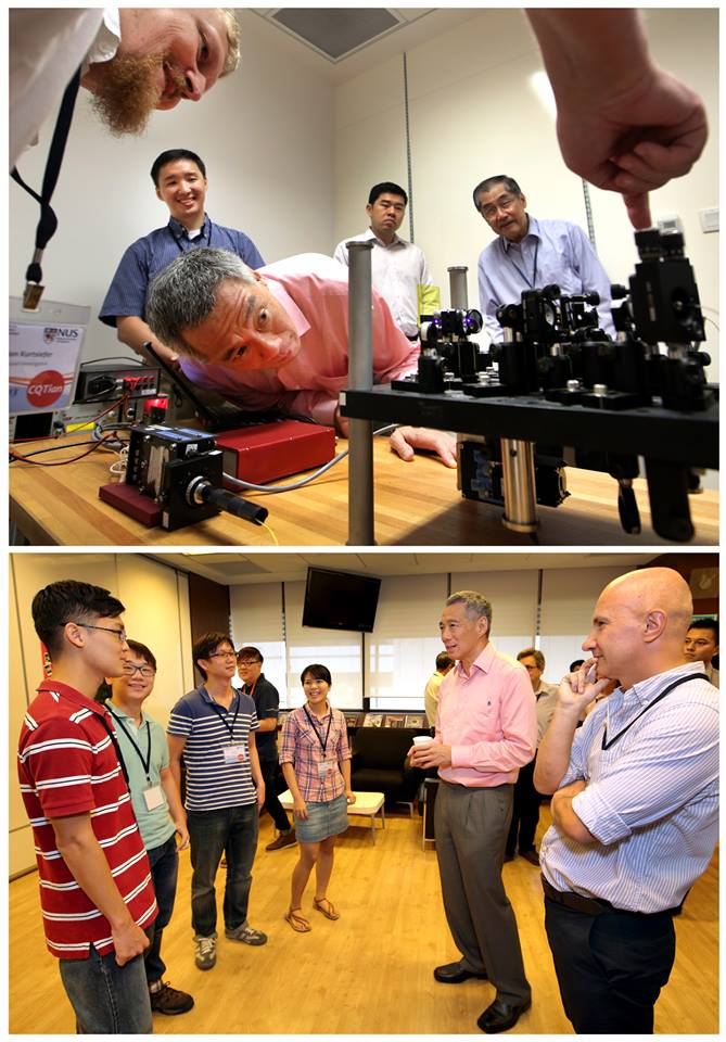 PM Lee's pictures on Facebook from his visit to CQT.