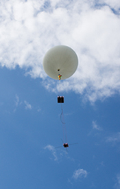 The SPEQS prototype was lofted by the weather balloon to 37.5km