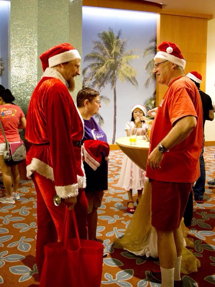 CQTian of the year 2014 dressed as santa.