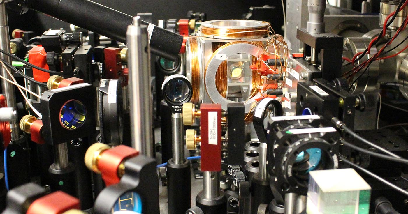 Experimental setup at the Centre for Quantum Technologies in Singapore for single atoms.
