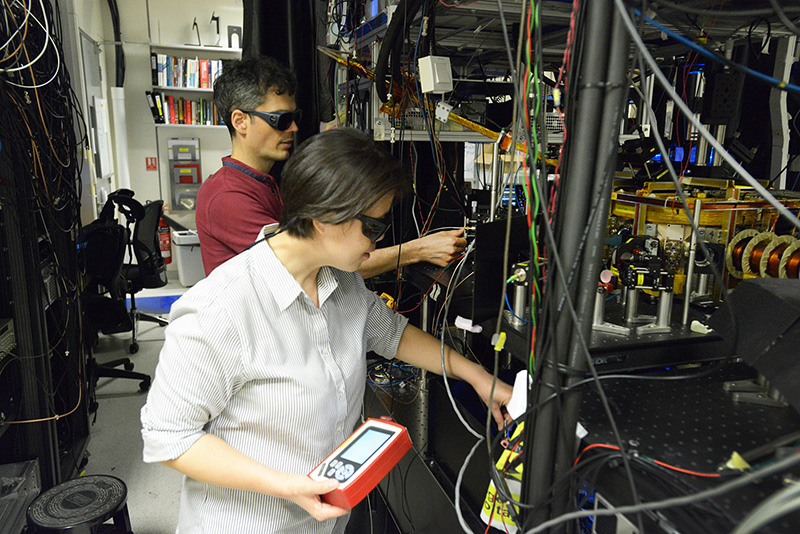 Experimental laboratory at the Centre for Quantum Technologies, Singapore