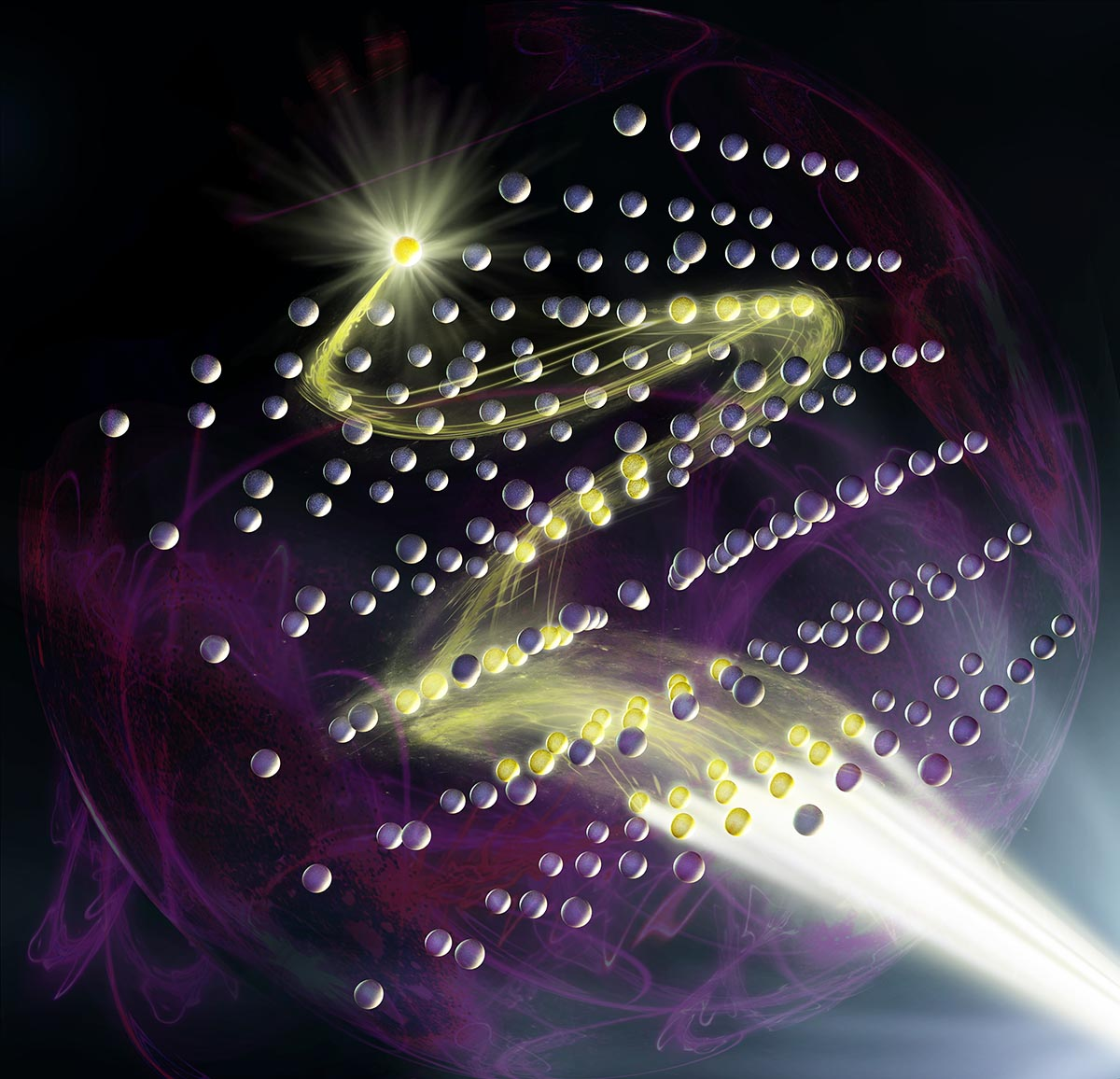 An artist's impression of a quantum spin lens in action